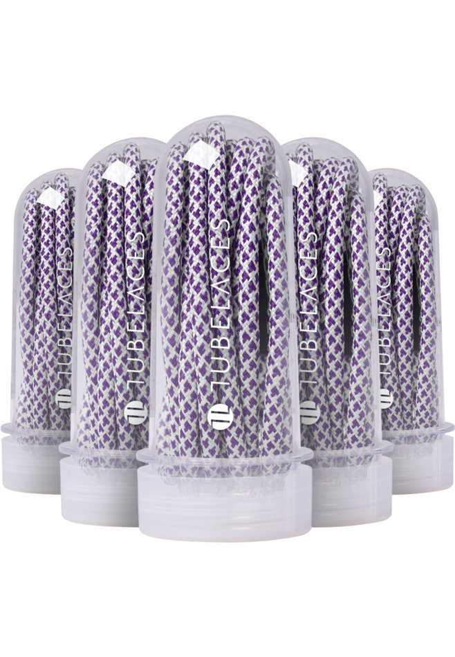 TUBELACES ROPE MULTI- WHITE/PURPLE / Sznurówki