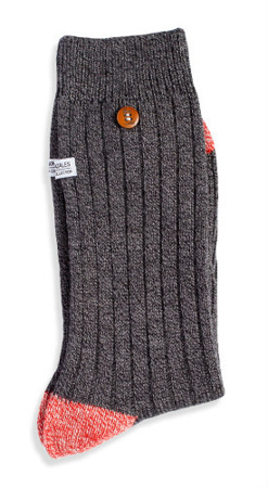 ALFREDO GONZALES - TWISTED YARN BLACK GREY / Skarpety