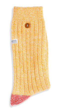 ALFREDO GONZALES - TWISTED YARN YELLOW / Skarpety