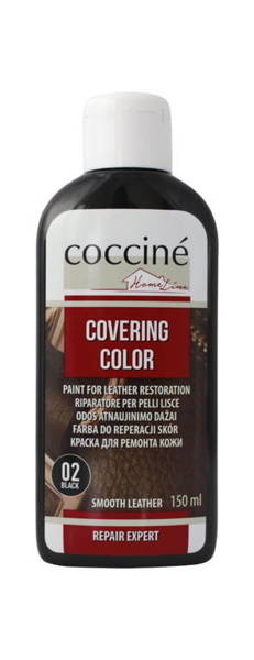 COCCINE - COVERING COLOR / Farba do reperacji skór - Czarny 150ml