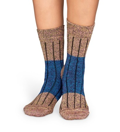 HAPPY SOCKS WOOL BLOCK BLUE - WB22-025 / Skarpety