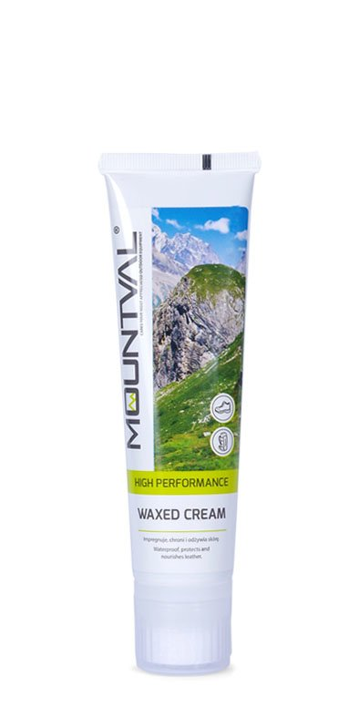 MOUNTVAL - WAXED CREAM /  Impregnat do skór licowych w kremie - Czarny 100ml